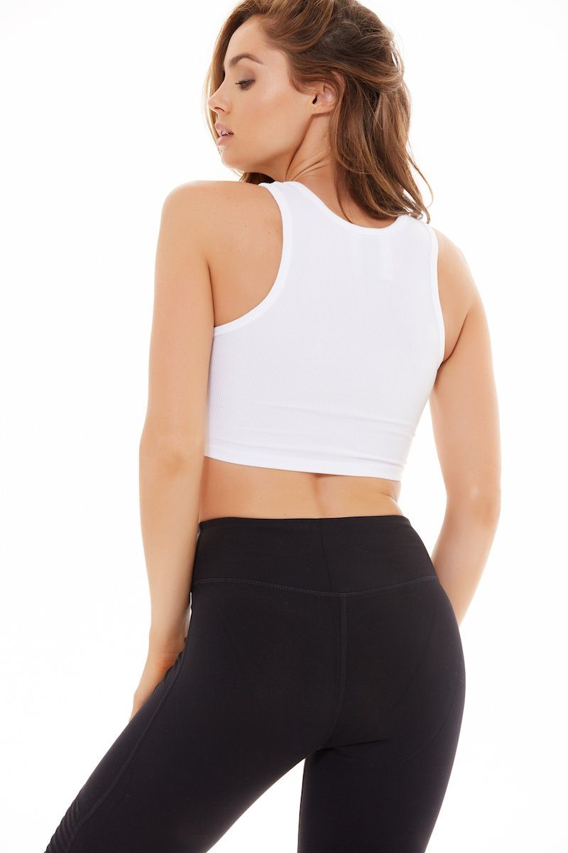 Muscle Crop - White Rib