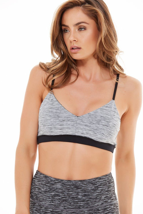 Reversible Stamina Bra - Charcoal - Vimmia | INFLOWSTYLE