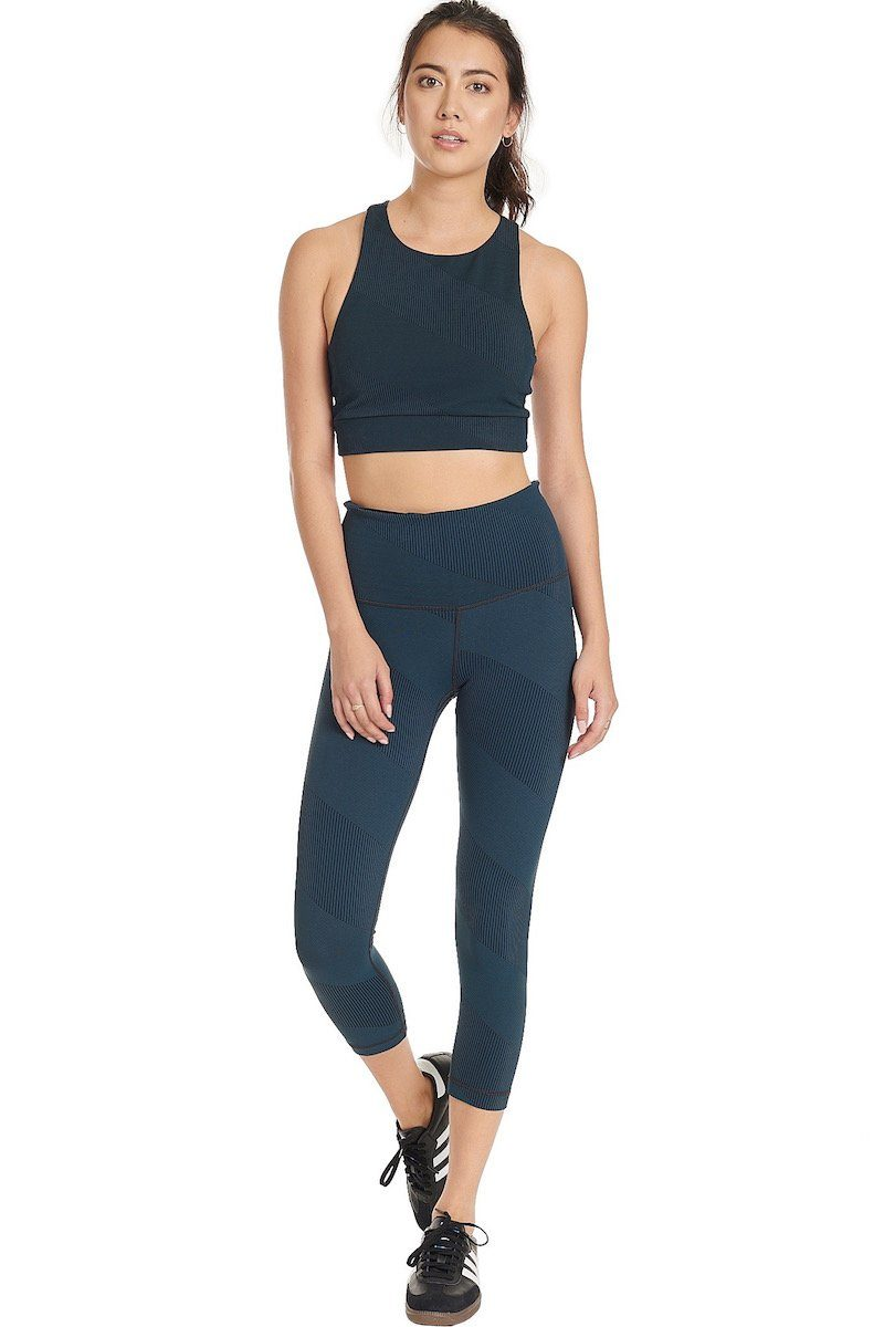 High Waisted Core Crop - Spruce - Vimmia | INFLOWSTYLE