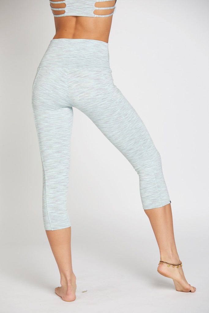 Stunner Capri Pant - Mint Heather - INFLOWSTYLE  - 3