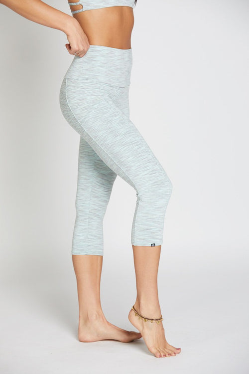 Stunner Capri Pant - Mint Heather - INFLOWSTYLE  - 2