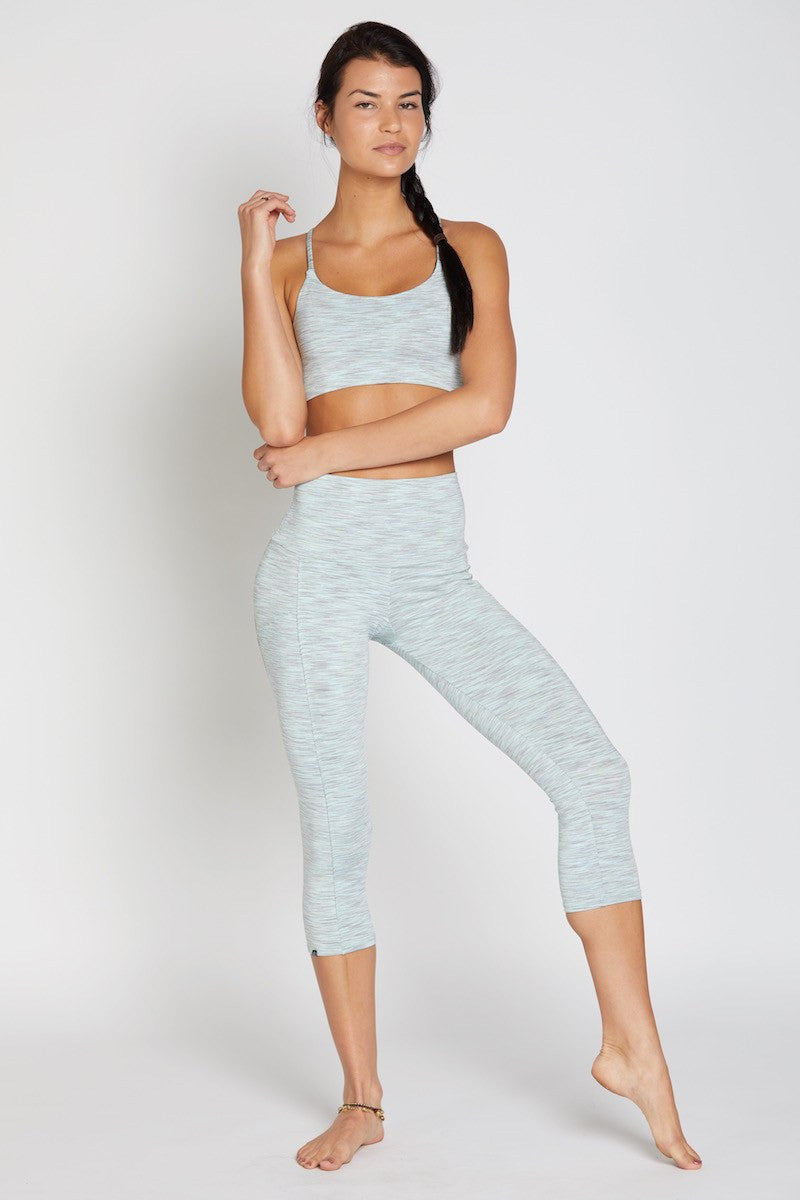 Stunner Capri Pant - Mint Heather - INFLOWSTYLE  - 4