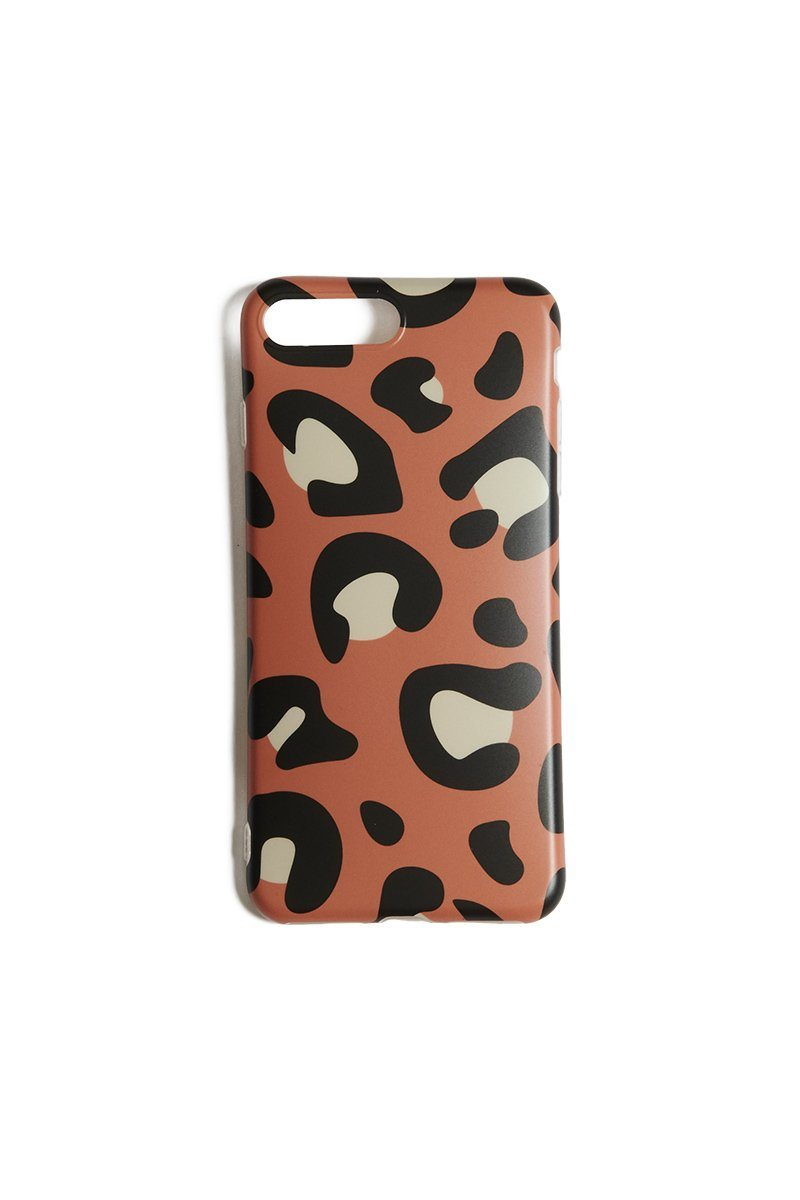 Brown Leopard iPhone 6/7/8 Plus Case - INFLOWSTYLE | INFLOWSTYLE