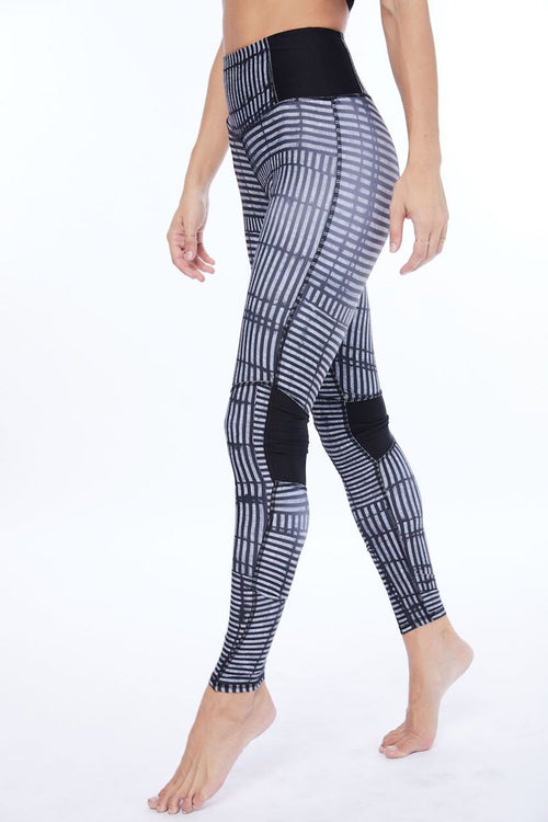 Voyage Legging - Block - Electric & Rose | INFLOWSTYLE