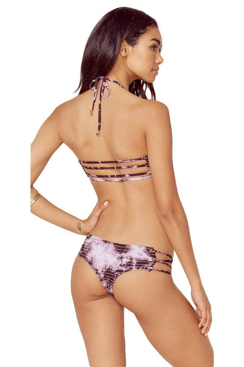 Scrunched Up Hipster Bottom - Acai Tie Dye - Blue Life | INFLOWSTYLE