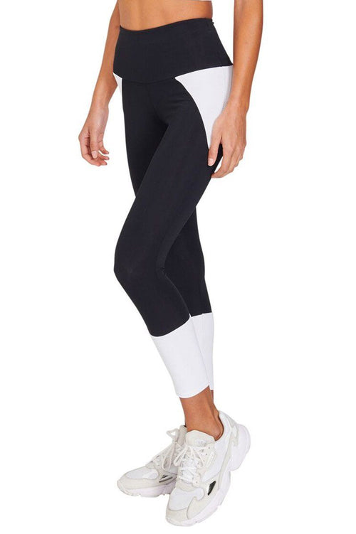 Athletic Midi - Black/White Combo - Onzie | INFLOWSTYLE