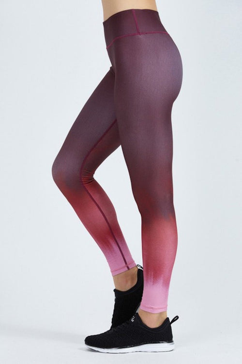 Rockell Compression Tights - Black Cherry Ombré - INFLOWSTYLE  - 2