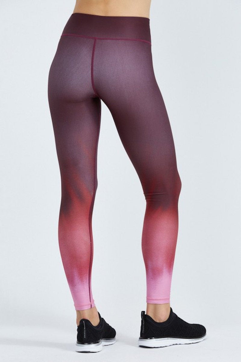 Rockell Compression Tights - Black Cherry Ombré - INFLOWSTYLE  - 3