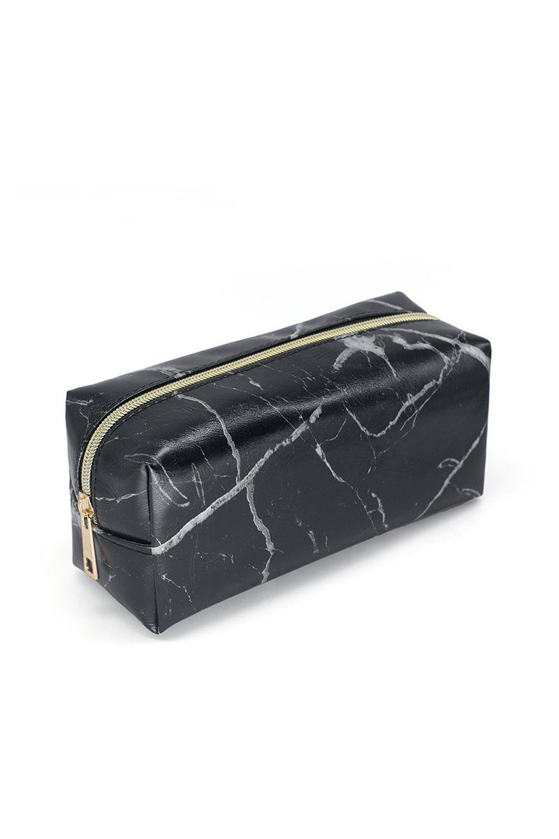 Black Marble Cosmetic Case - INFLOWSTYLE | INFLOWSTYLE
