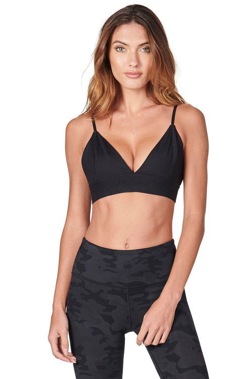 Signature Triangle Bralette - Black