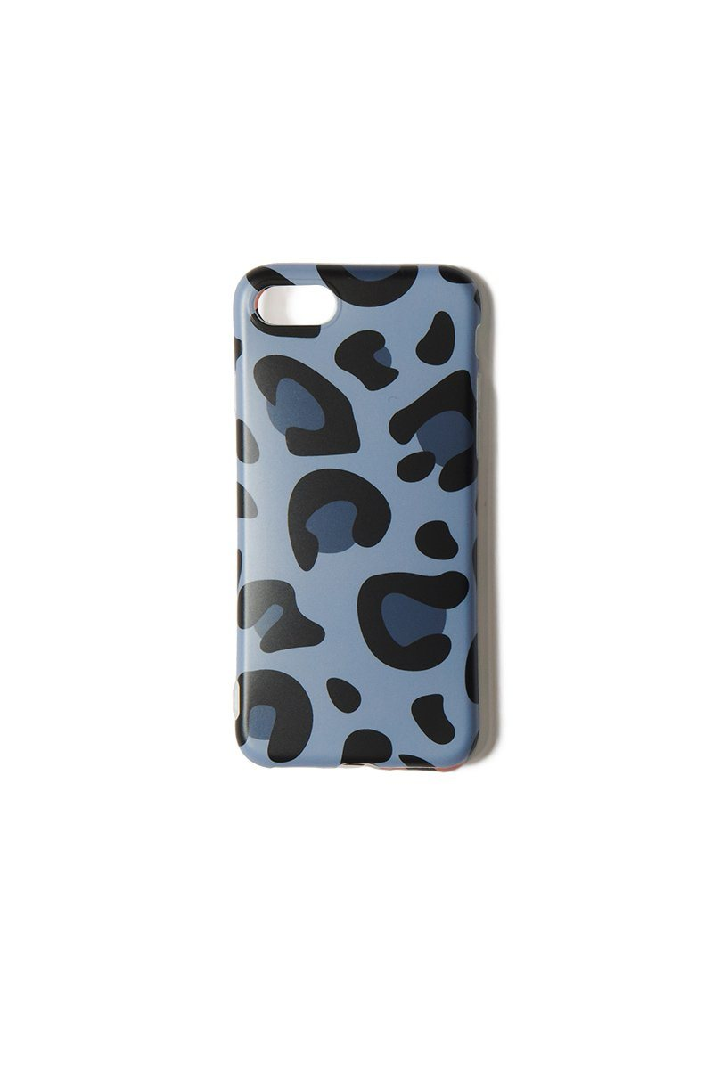 Blue Leopard iPhone 6/7/8 Case - INFLOWSTYLE | INFLOWSTYLE