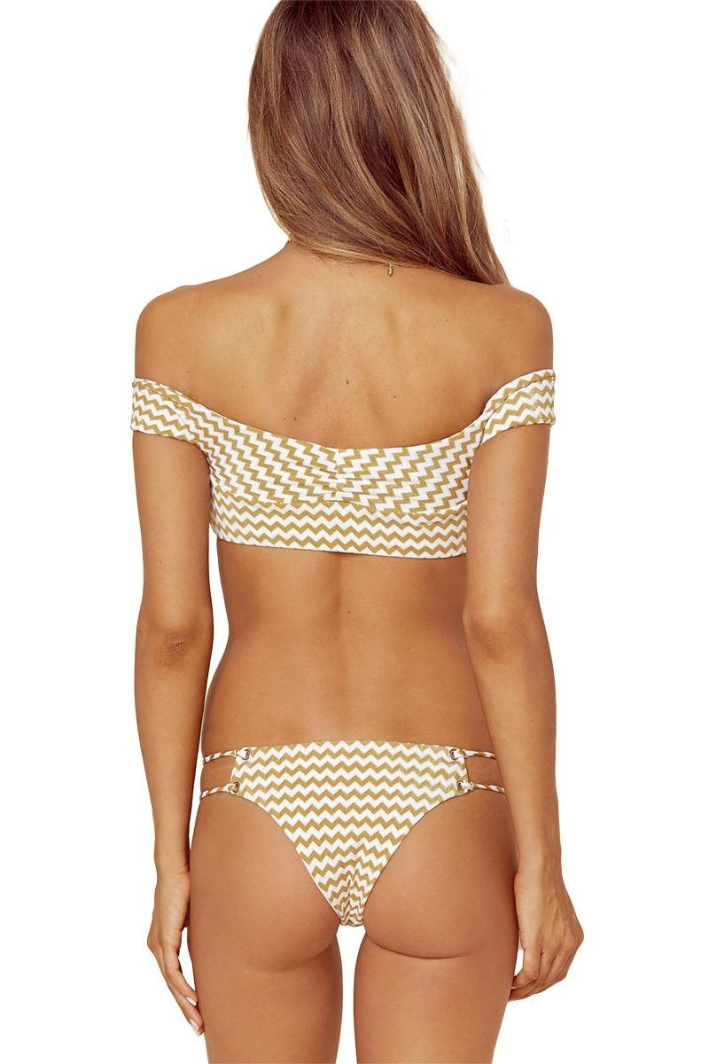 Roped Up Skimpy Bottom - Gold - Blue Life | INFLOWSTYLE