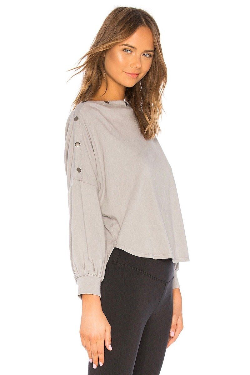 Boundary Snap Top - Taupe - Vimmia | INFLOWSTYLE