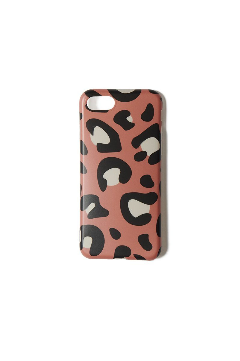 Brown Leopard iPhone 6/7/8 Case - INFLOWSTYLE | INFLOWSTYLE