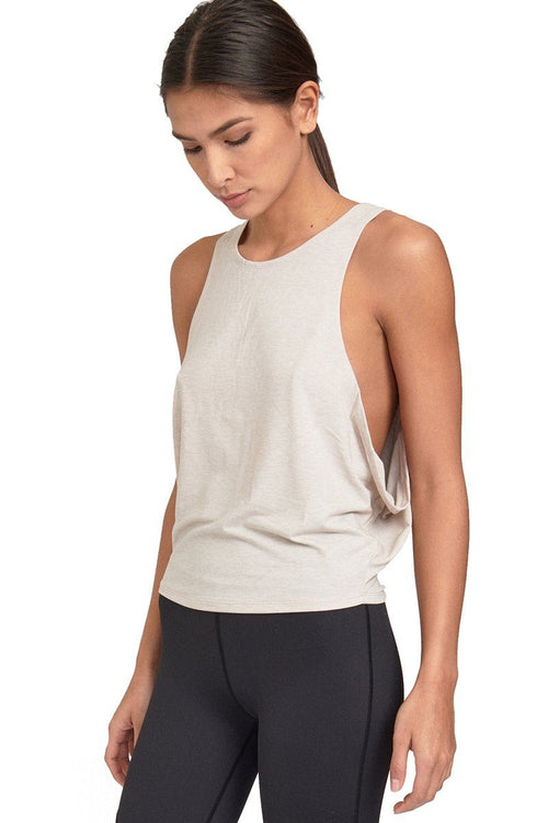 Buckley Crop Top - Oatmeal - Varley | INFLOWSTYLE