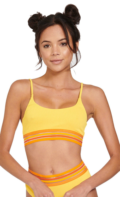 Anna Top - Yellow - Beach Riot | INFLOWSTYLE
