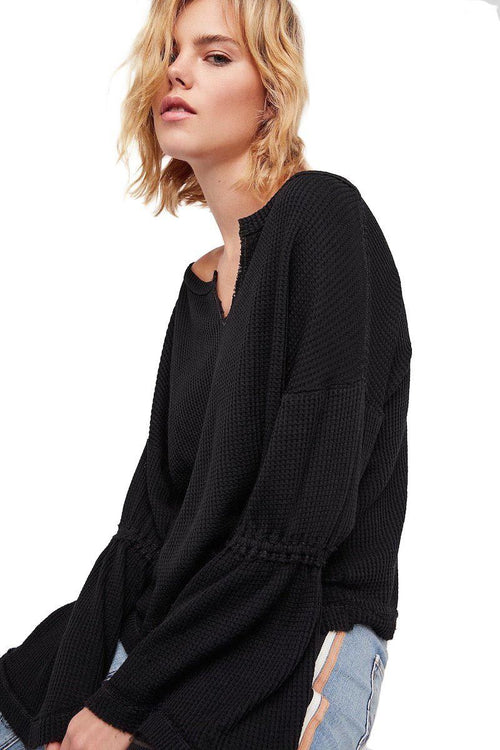 Dahlia Thermal - Black - Free People | INFLOWSTYLE