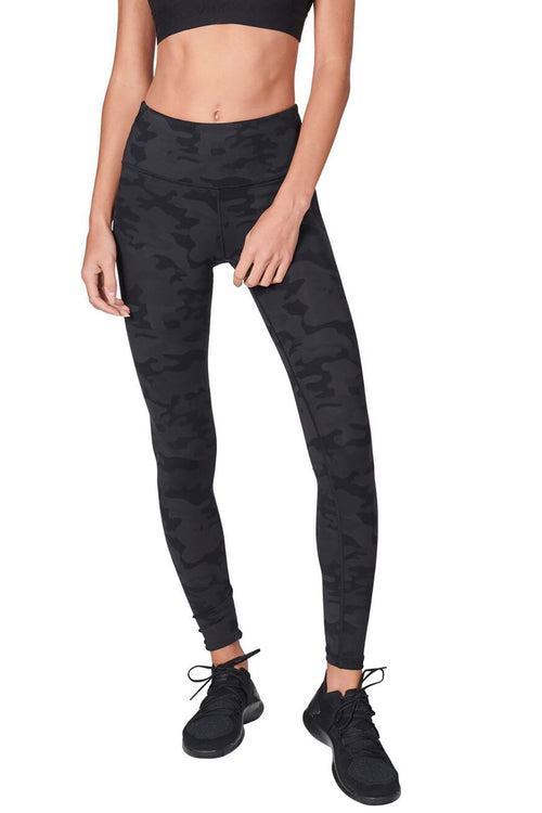 High Waist Core Legging - Dark Camo
