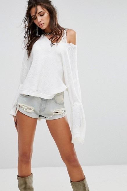 Dahlia Thermal - Ivory - Free People | INFLOWSTYLE