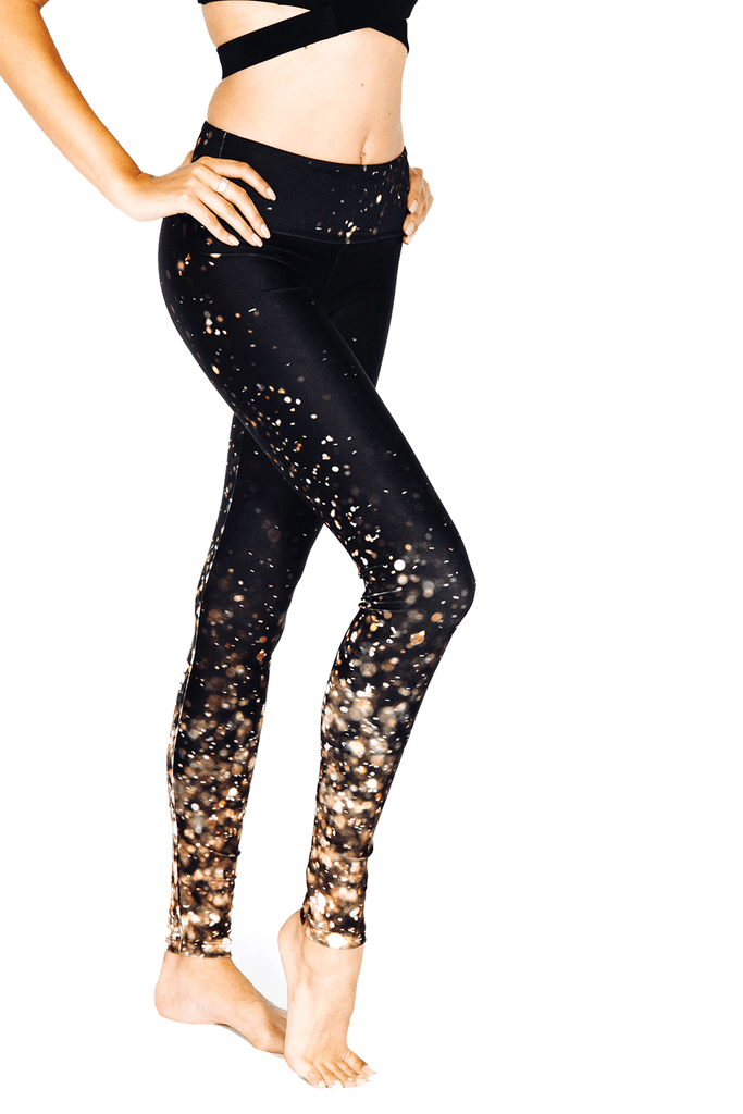 Gold Lights Legging - INFLOWSTYLE  - 1