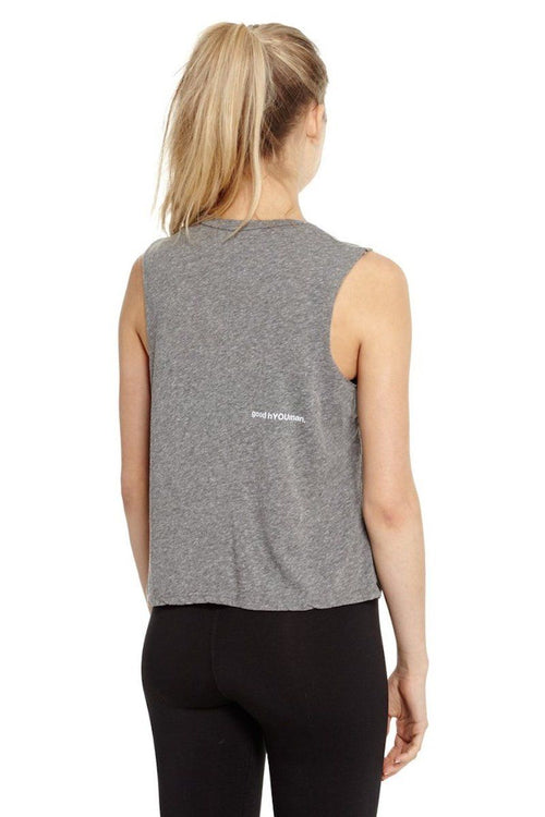 Lili Crop Muscle Tank - Best Day Ever - Good hYOUman | INFLOWSTYLE