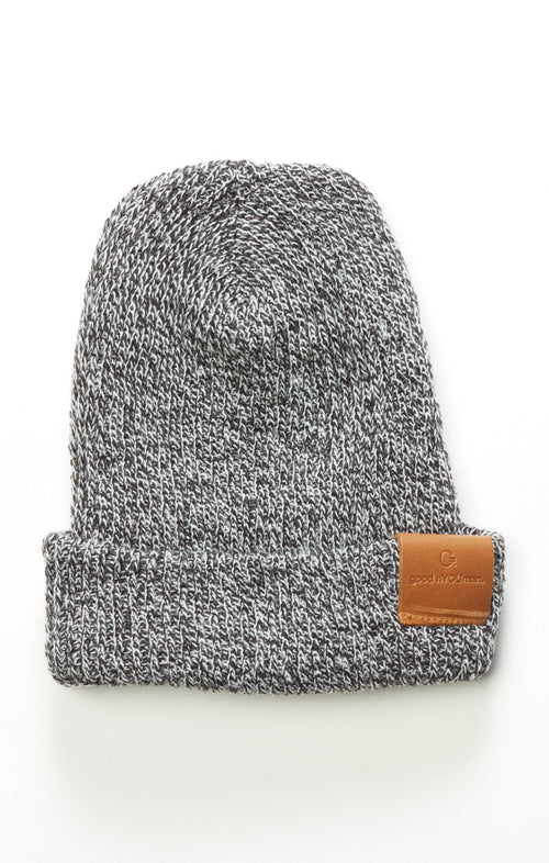 Beanie - Salt & Pepper - Good hYOUman | INFLOWSTYLE