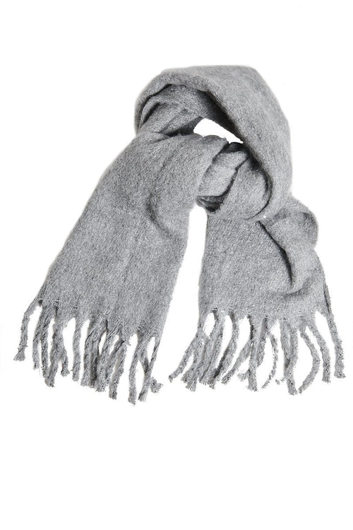 Fringe Cashmere Scarf - Grey - INFLOWSTYLE | INFLOWSTYLE