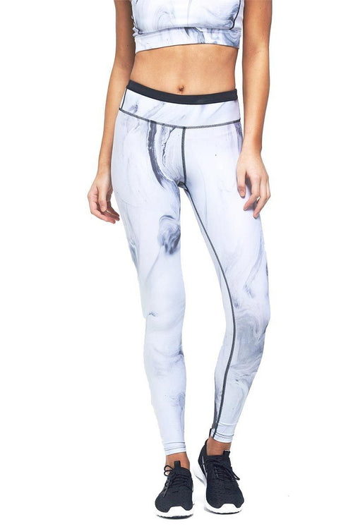 Lauren 7/8 Tight - Grey Marble - Nimble | INFLOWSTYLE