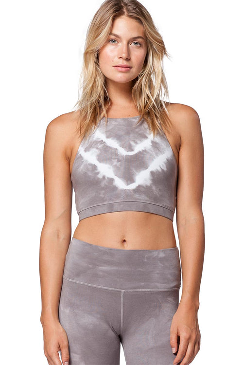 Grayson Crop - Thunder Cloud - Electric & Rose | INFLOWSTYLE