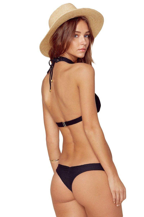 Island Fever Brazilian Bottom - Black - Blue Life | INFLOWSTYLE