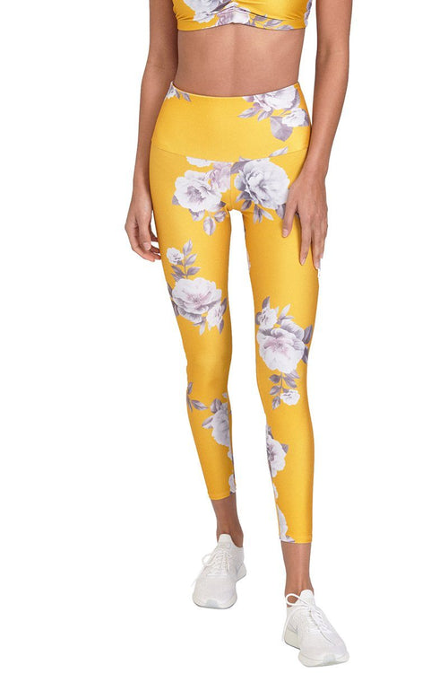 High Basic Midi Legging - Golden Floral - Onzie | INFLOWSTYLE