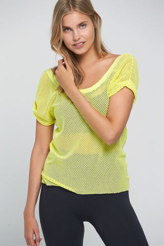Hot Stuff Mesh Tee - Yellow