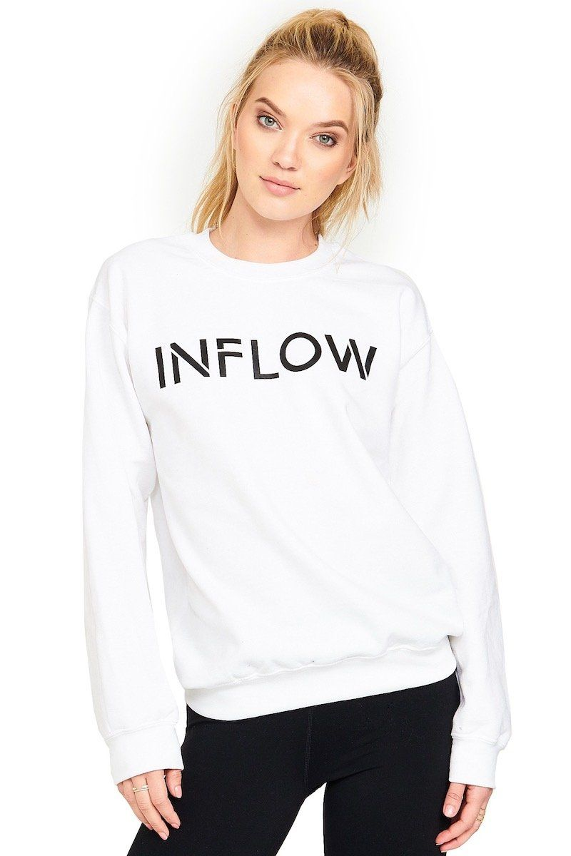 Inflow Crewneck - White - Inflow | INFLOWSTYLE