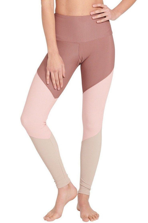 High Rise Track Legging - Toast Rib - Onzie | INFLOWSTYLE
