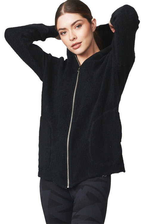 Verge Oversized Reversible Hoodie - Black