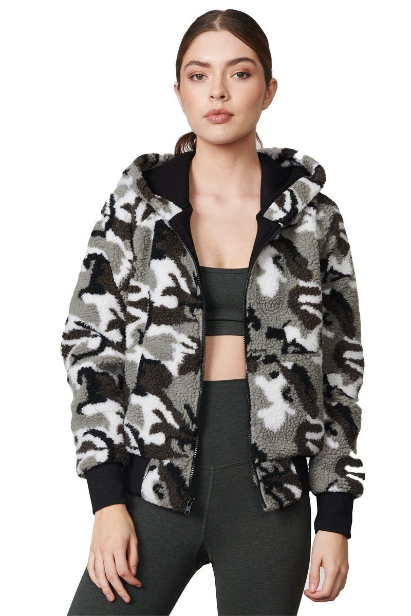 Abby Jacket - Camo Sherpa - Strut-This | INFLOWSTYLE