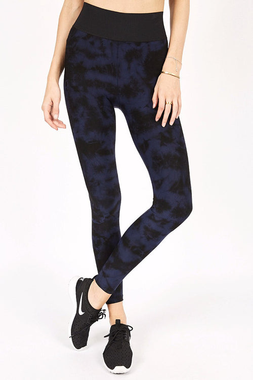 High Rise Legging - Ink Tie Dye - Blue Life Fit | INFLOWSTYLE