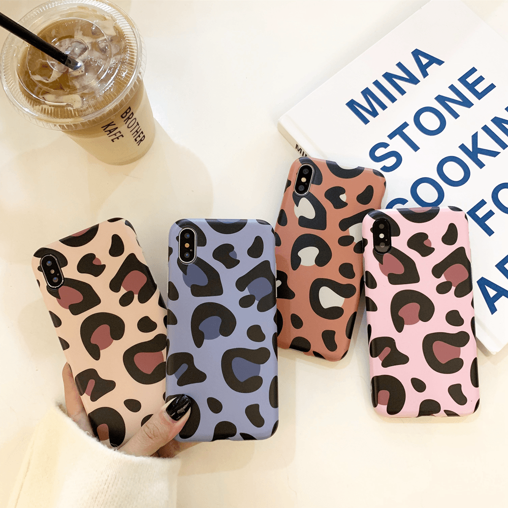 Blue Leopard iPhone XS/X Case - INFLOWSTYLE | INFLOWSTYLE