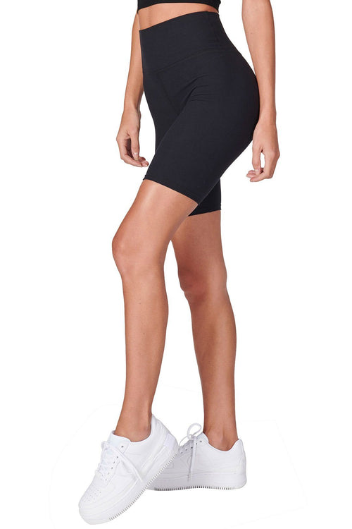The Biker Short - Sueded Onyx