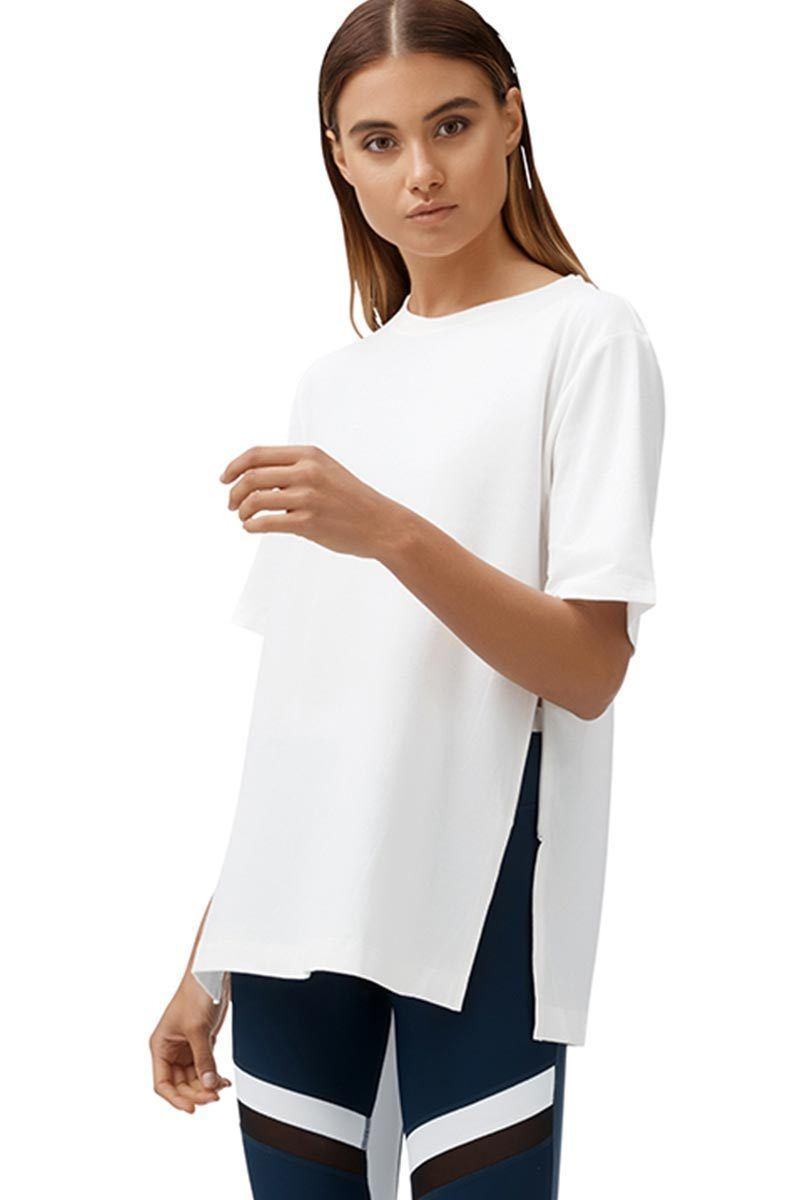Khloe Zipper Tee - All Fenix | INFLOWSTYLE