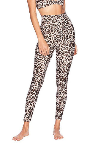 High Rise Biker Short - Leopard