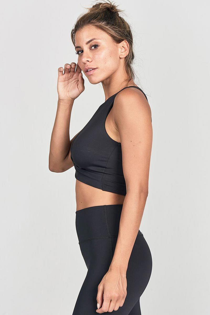 Marathon Crop - Onyx Black - Joah Brown | INFLOWSTYLE