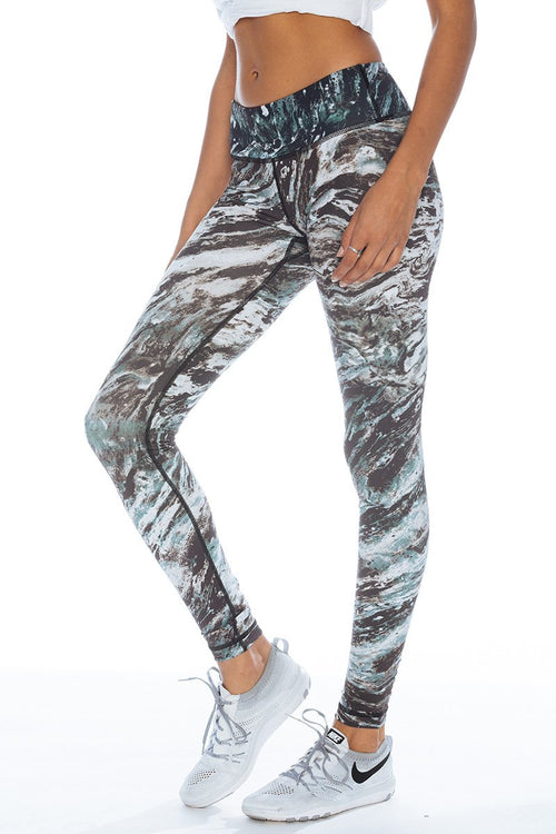 Printed Long Legging - Marble - Vimmia | INFLOWSTYLE