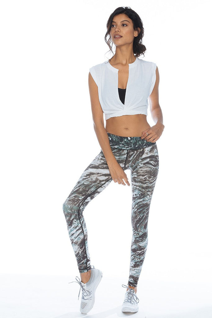 Printed Long Legging - Marble