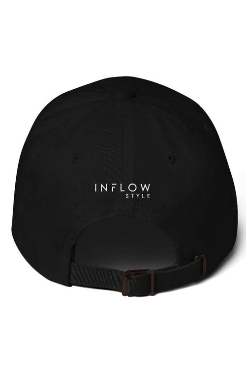 Relaxed Baseball Hat - Go With The Flow in Black - Inflow | INFLOWSTYLE