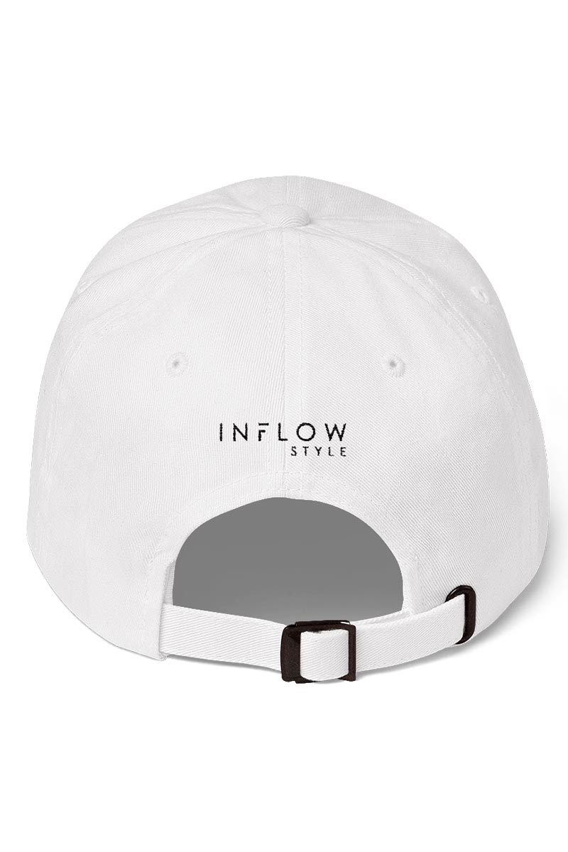 Relaxed Baseball Hat - Go With The Flow - White - INFLOWSTYLE | INFLOWSTYLE