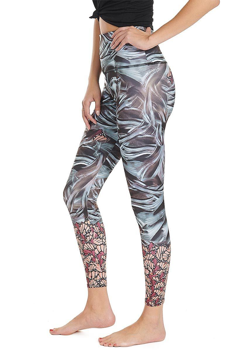 High Rise Graphic Legging - Mother Nature - Onzie | INFLOWSTYLE