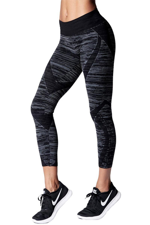Static Stripe Crop Legging - Nux | INFLOWSTYLE
