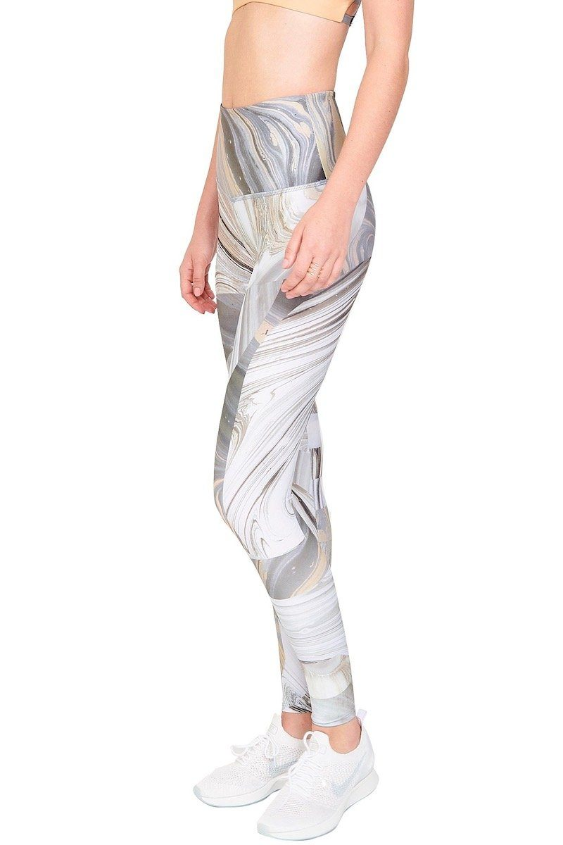 High Rise Graphic Legging - Marble Geo - Onzie | INFLOWSTYLE