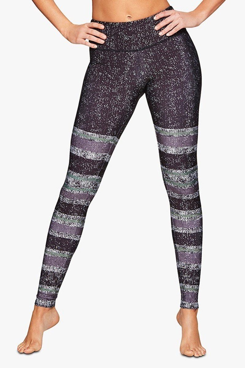 Graphic Legging - Textured Stripe - Onzie | INFLOWSTYLE
